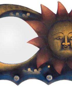Sun & Moon Coat Rack and Mirror