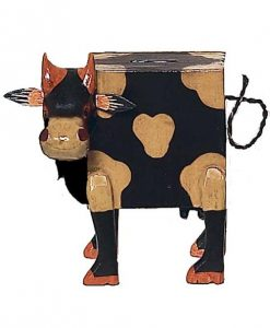 Wooden Cow Piggy Bank