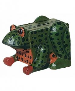 Wooden Frog Piggy Bank
