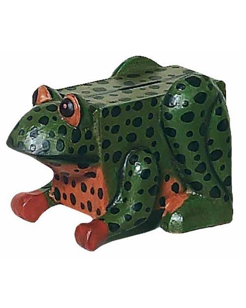 Wooden Frog Piggy Bank