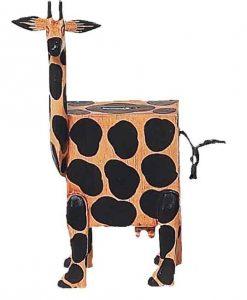 Wooden Giraffe Piggy Bank