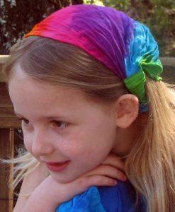Rainbow Tie Dye Elastic Bandana