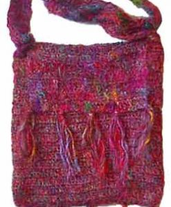 Recycled Silk Shoulder Bag