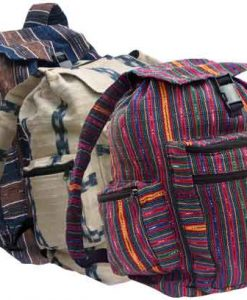 Ikat Fabric Backpack