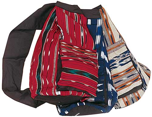 Ikat Weave Courier Bag