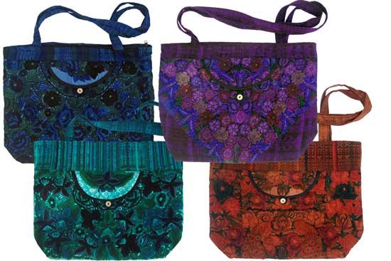 Embroidered Floral Carry-All