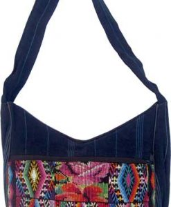 Chichi Weave and Denim Shoulder Bag