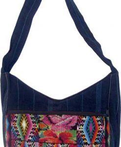 Chichi Weave and Denim Shoulder Bag
