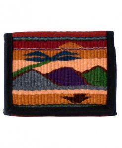 Wallet with Woven Mountain Scene