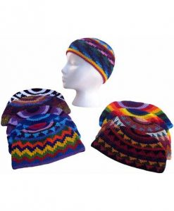 Cotton Crocheted Beanie, Assorted colors
