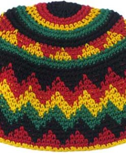 Cotton Crocheted Rasta Beanie