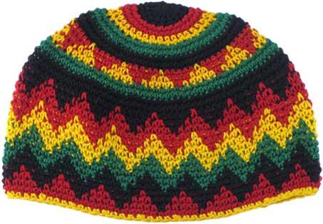 Cotton Rasta Beanie Crochet Rasta Hat Turtle Island Imports
