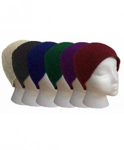 Cotton Crocheted Beanie, Solid Color