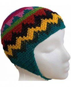 Child`s Cotton Crocheted Earflap Cap