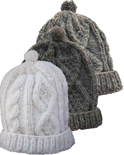cabaead1d0a57a Cable Knit 100 Per Cent Wool Cap with Polar Fleece Lining - Turtle ...