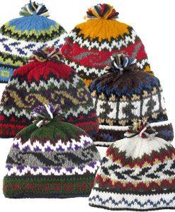 Wool Knit Hat with Polar-Fleece Lining