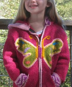 Child`s Pointy Hooded Butterfly Cardigan