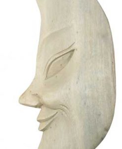 Moon Face Wood Mask