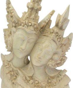 Rama Sita Loving Couple Wood Carving