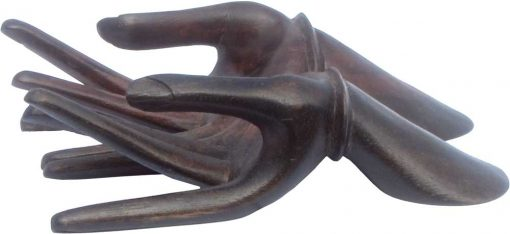 Connected Hands Wood Carving