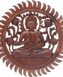 Wood Buddha Mandala, 12 inches