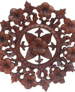 12 inch Floral Wood Carving