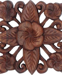 6 inch Floral Wood Carving