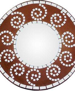 Spiral Mosaic Mirror