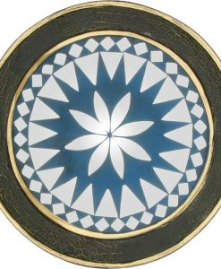Small Green and Blue Mosaic Mirror