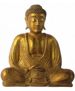 Gold Painted Resin Buddha