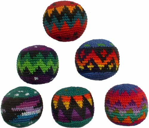 Set of 6 Hacky Sacks
