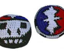 Lightning and Skull Hacky Sack