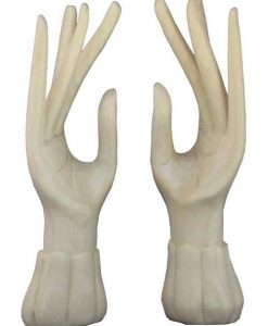 Pair of Standing Hands, Whitewood