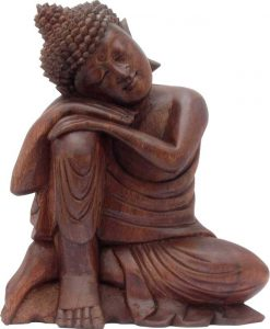 Dreaming Buddha Wood Carving