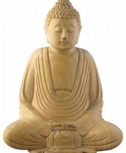 Whitewood Sitting Buddha Carving