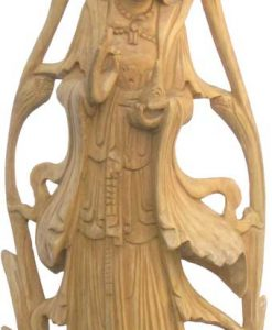 Quan Yin Wood Statue, 20 inches high