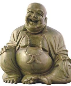 Laughing Buddha Hardwood Carving