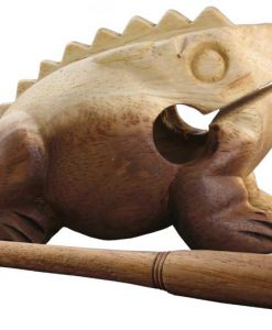 "Large Wood Percussion Frog, 5"" long"