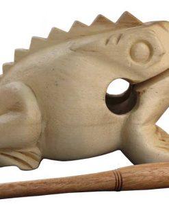 "Medium Wood Percussion Frog, 4"" long"