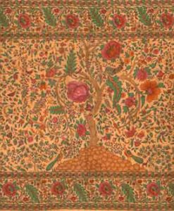 Tree of Life Tapestry Bedspread in Tan