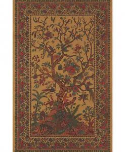 Tree of Life Tapestry Bedspread in Brown