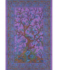 Tree of Life Tapestry Bedspread in Purple