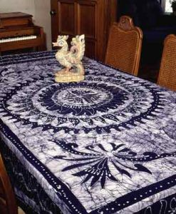 Blue Batik Indian Tapestry Bedspread