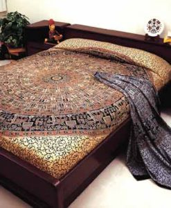 Indian Bedspread in Bagroo Print