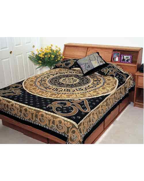Earthtone OM Indian Bedspread
