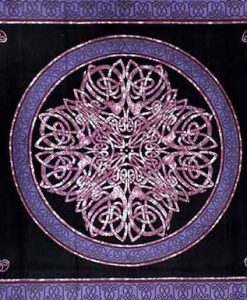 Celtic Circle Tapestry Bedspread in Blue, Black & Purple
