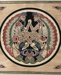 Celtic Lovers Tapestry Bedspread in Tan