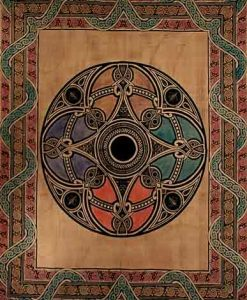 Celtic Circle Tapestry Bedspread in Tan