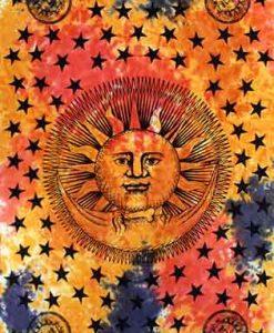 Tie Dye Sun & Moon Bedspread