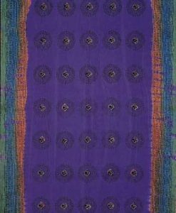 Indian Bedspread in Purple Mantra Print